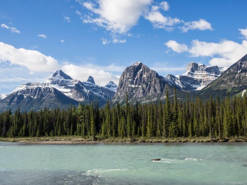 Река через долину горы стоковая фотография rf