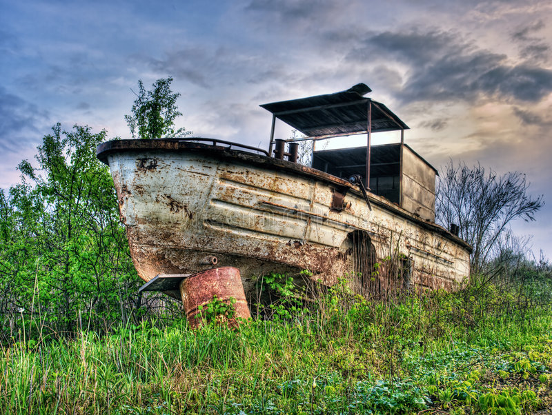 река шлюпки старое стоковые фото