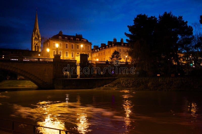 Река Эвон на ноче стоковые фото
