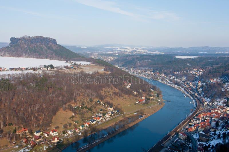 Река Эльбы стоковые изображения rf
