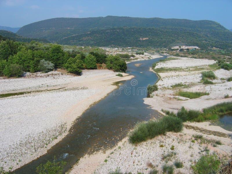 Река Achelous в Acarnania и Aetolia Греции стоковое фото rf