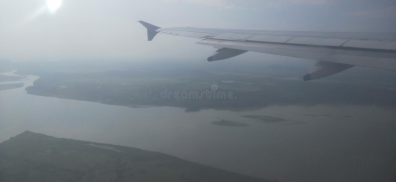 Река Bhramhaputra, luit r стоковое изображение rf