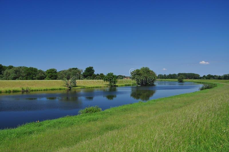 река brandenburg elbe Германии стоковые изображения rf