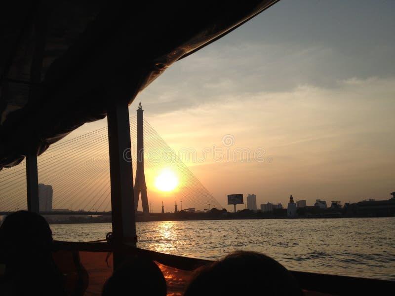 Река Chao Phraya стоковое фото rf