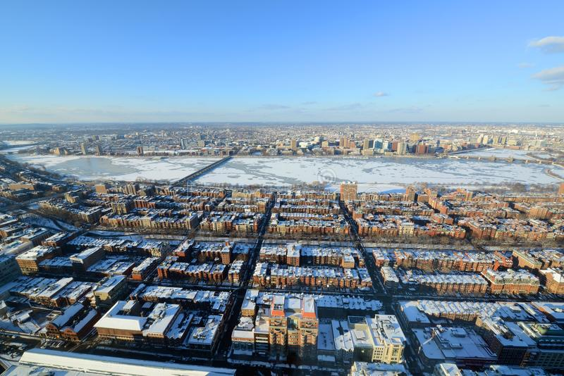 Река Charles и задний залив в Бостоне, США стоковые изображения