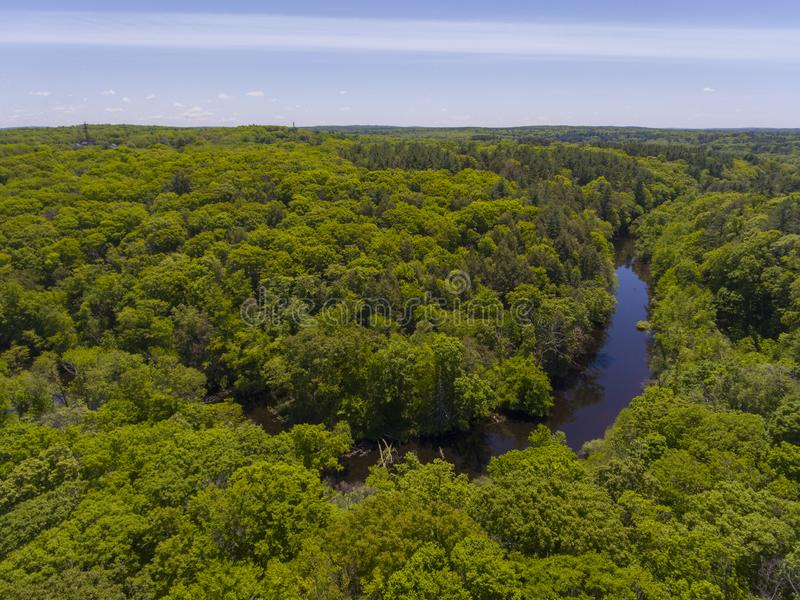 Река Charles, Medway, Массачусетс, США стоковое изображение rf