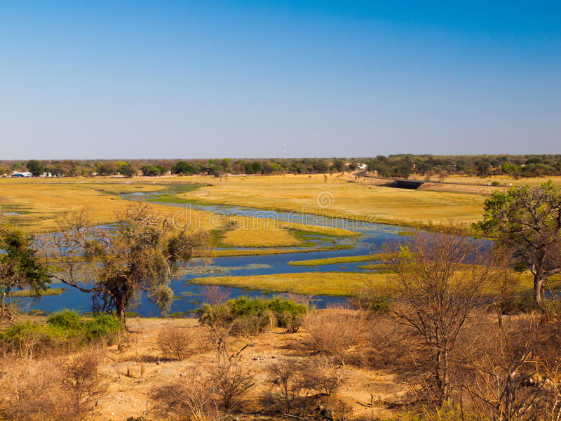 Река Chobe стоковые фотографии rf