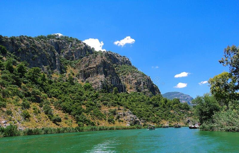 Река Dalyan в Turkye стоковые изображения rf