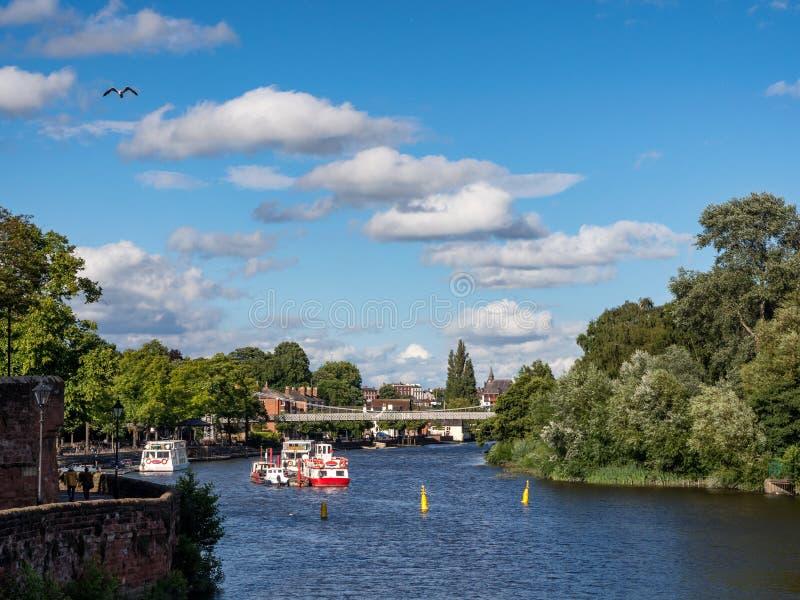 Река Dee Великобритания Честера стоковое фото rf