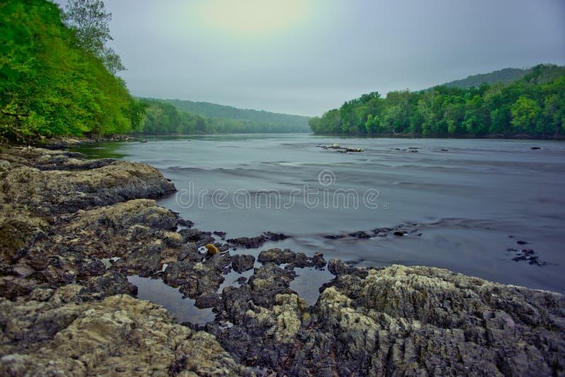 Река Delaware на парке скрещивания Вашингтона стоковое фото
