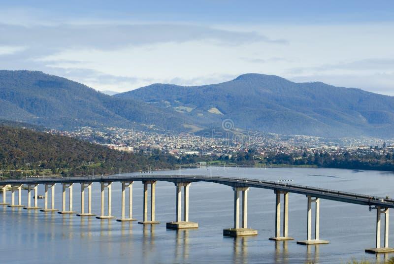 Река Derwent моста Tasman стоковая фотография rf