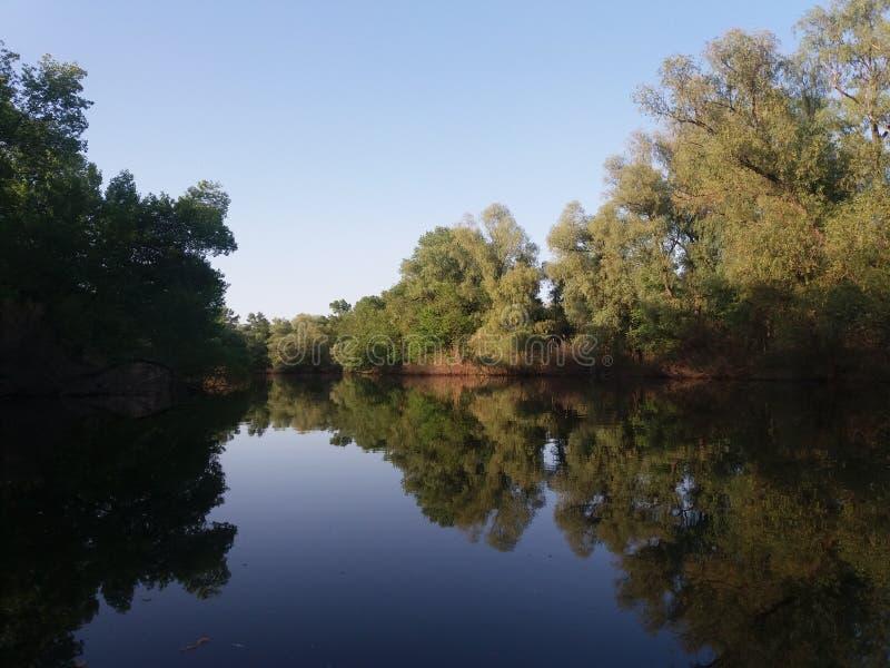 река Dnieper в мае 2017 Ukrain стоковые фото