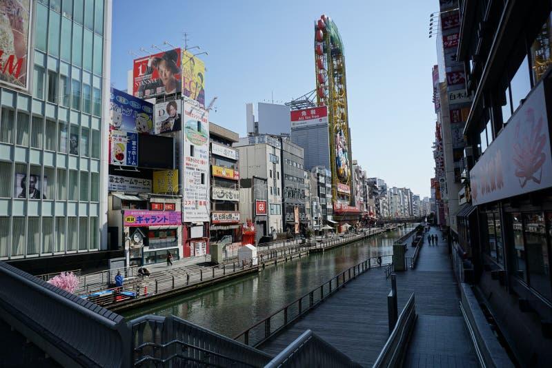 Река Dotonbori, Осака, Япония стоковое фото