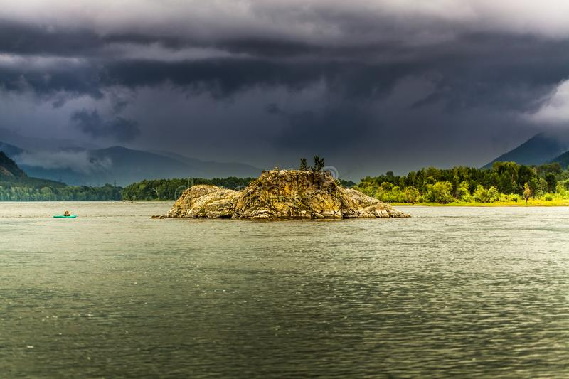 Река Enisei стоковая фотография