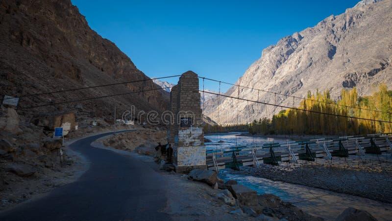 река gilgit моста стоковые изображения