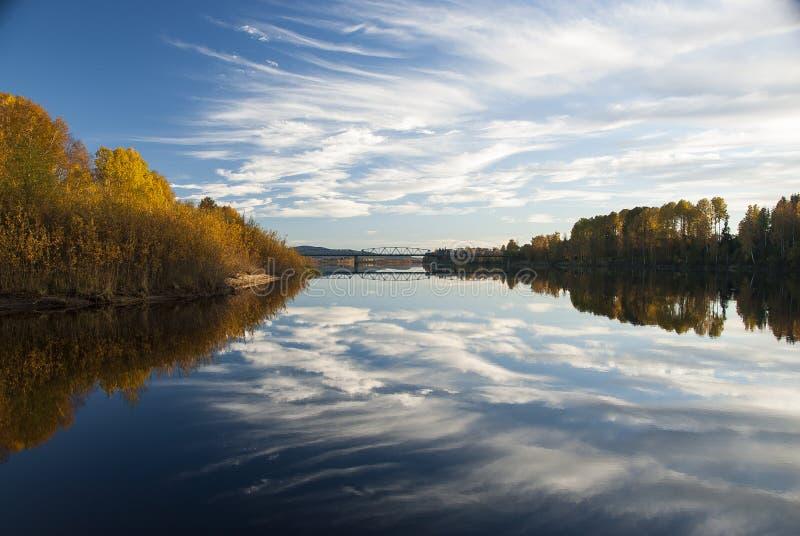 Река Glomma стоковые фотографии rf
