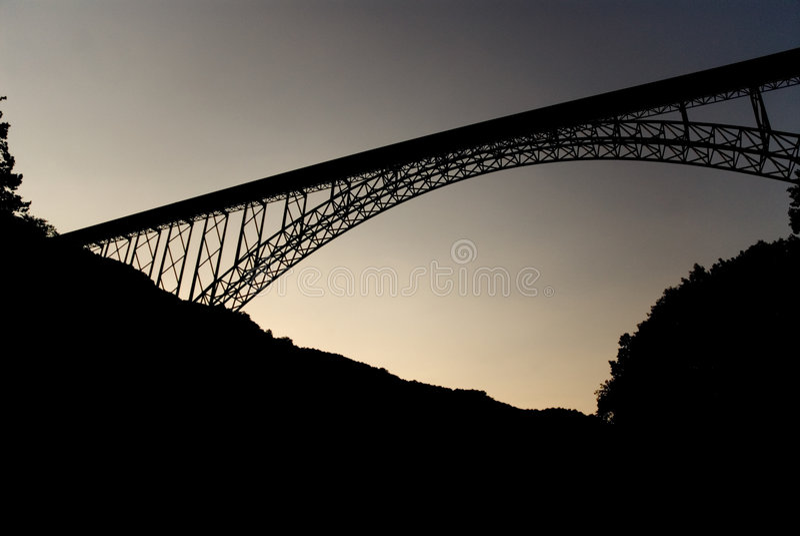 река gorge моста новое стоковая фотография rf