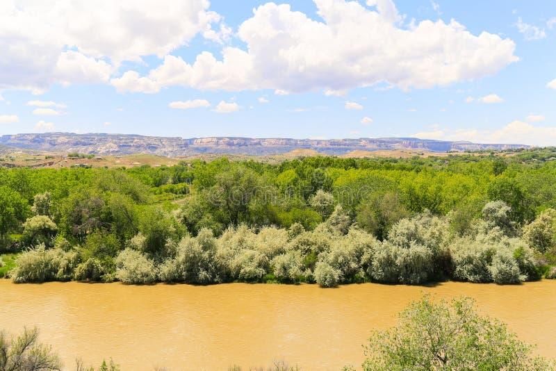 Река Gunnison около Grand Junction стоковое изображение