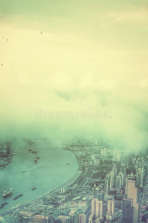 Река Huangpu Шанхай Китай стоковая фотография