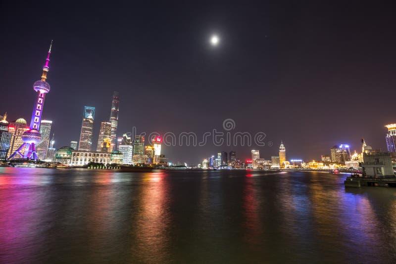 Река Huangpu Шанхай стоковая фотография