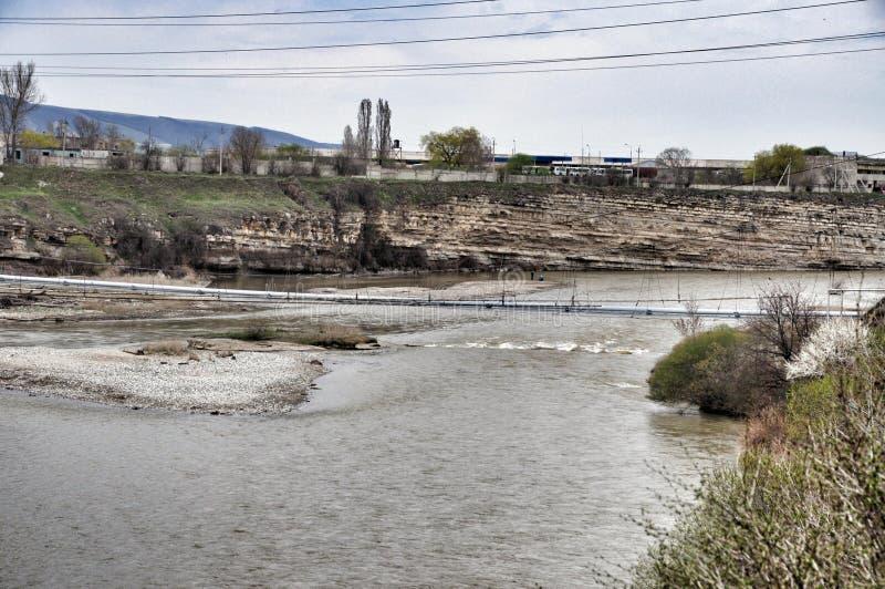 река kuban стоковая фотография