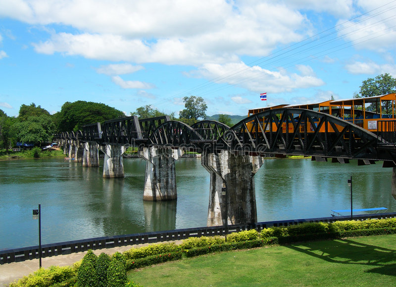 река kwai моста стоковое изображение