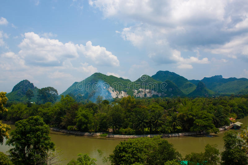 Река Kwai стоковое фото rf