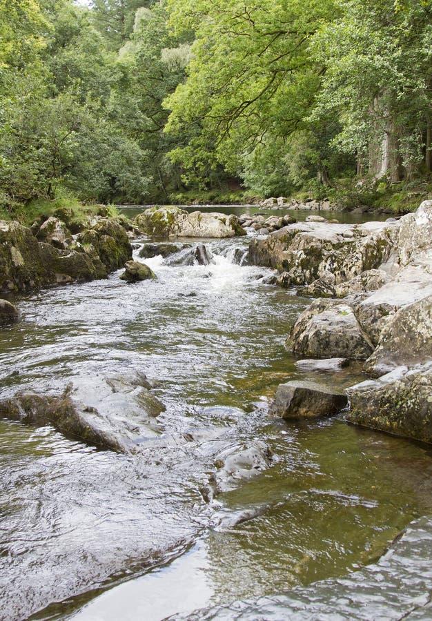 Река Llugwy на Betws-Y-Coed стоковая фотография rf