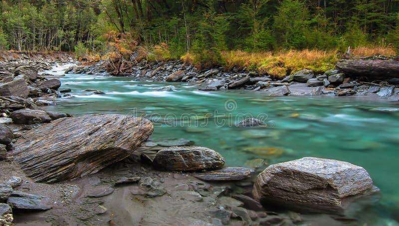 Река Matukituki, Новая Зеландия стоковое фото