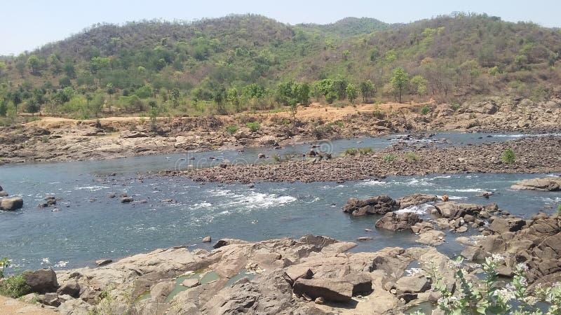 Река Mayurakshi стоковая фотография rf