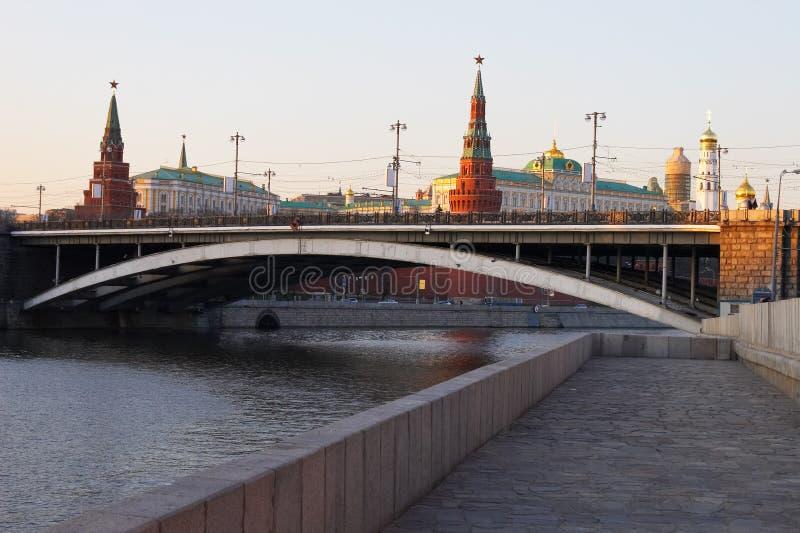 река moscow города стоковая фотография