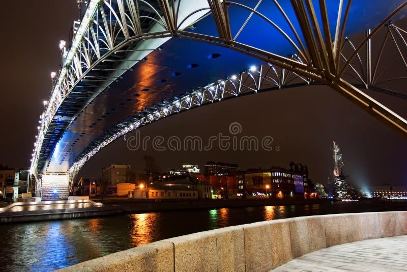 река moscow моста стоковые изображения rf