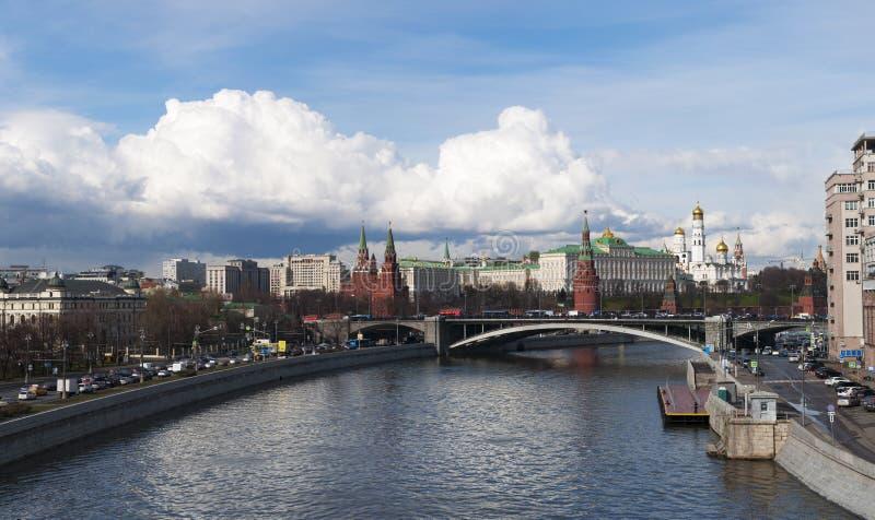 Река Moskva, Москва, русский город Вашингтон, Российская Федерация, Россия стоковые фото