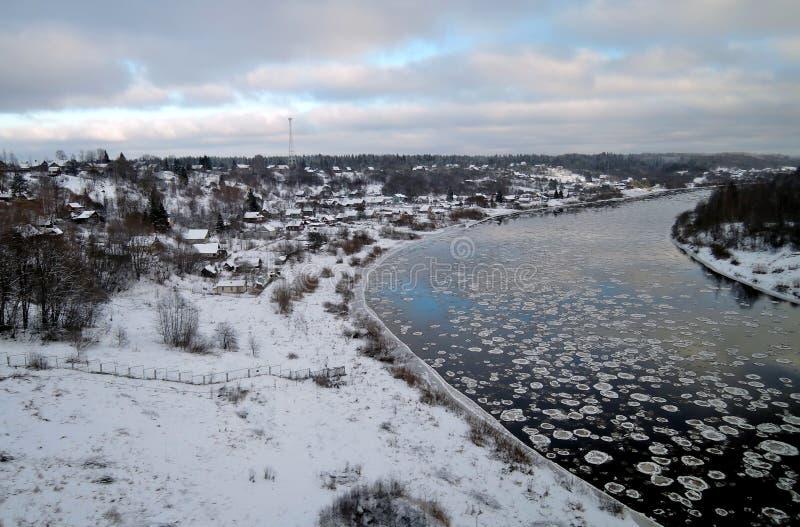 Река Msta, зона Новгорода, Россия стоковые фото