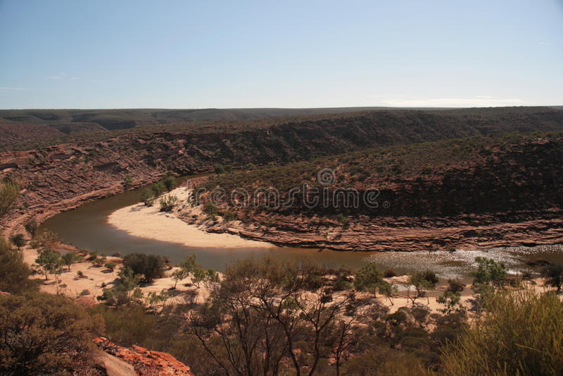 Река Murchison - Австралия стоковые изображения rf