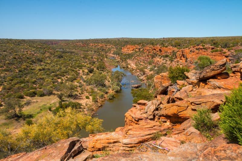 Река Murchison от головы ` s хоука стоковое фото