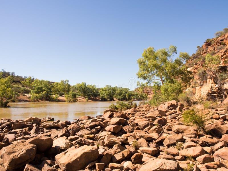 Река Murchison, Ross Graham, национальный парк Kalbarri, западная Австралия стоковое изображение