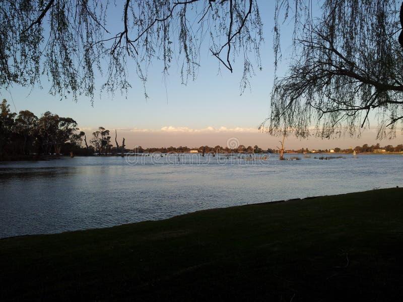 Река Nagambie стоковое изображение rf
