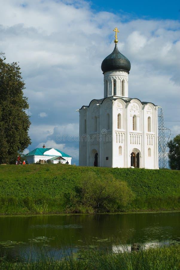 река nerl intercession церков стоковые фотографии rf