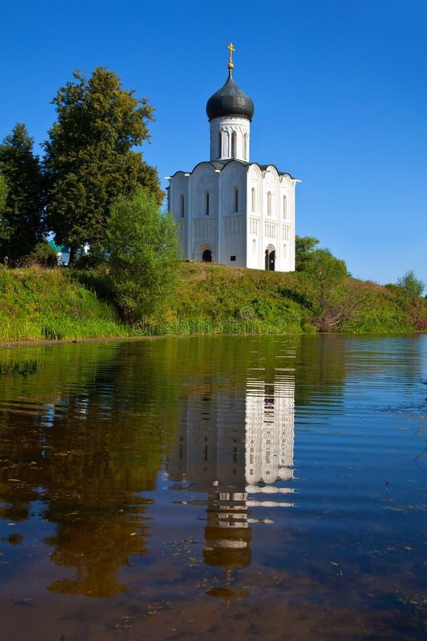 река nerl intercession церков стоковая фотография rf