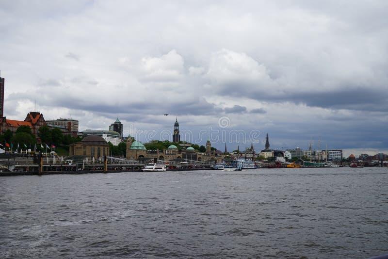 Река Norderelbe в Гамбурге стоковое фото