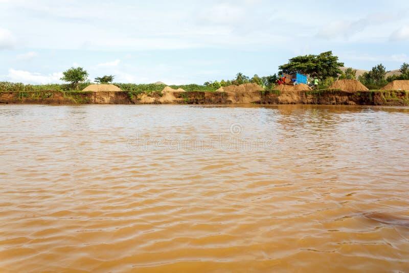 Река Nzoia стоковые изображения rf