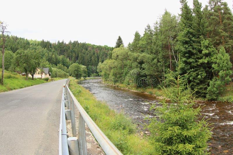 Река Otava, чехия стоковое фото rf