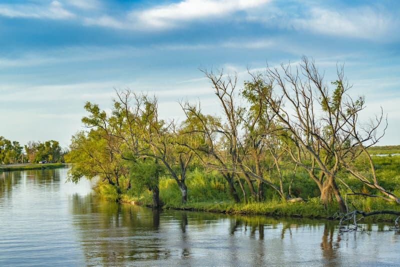 Река Parana, San Nicolas, Аргентина стоковые изображения rf