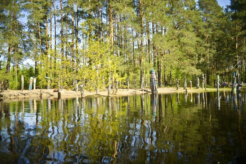 Река Pra Национальный парк Meshchersky Россия стоковая фотография