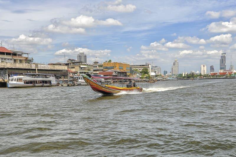 река praya chao bangkok стоковое изображение rf