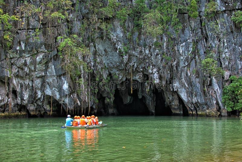 Река Puerto Princesa St Paul подземно-минное стоковые фото