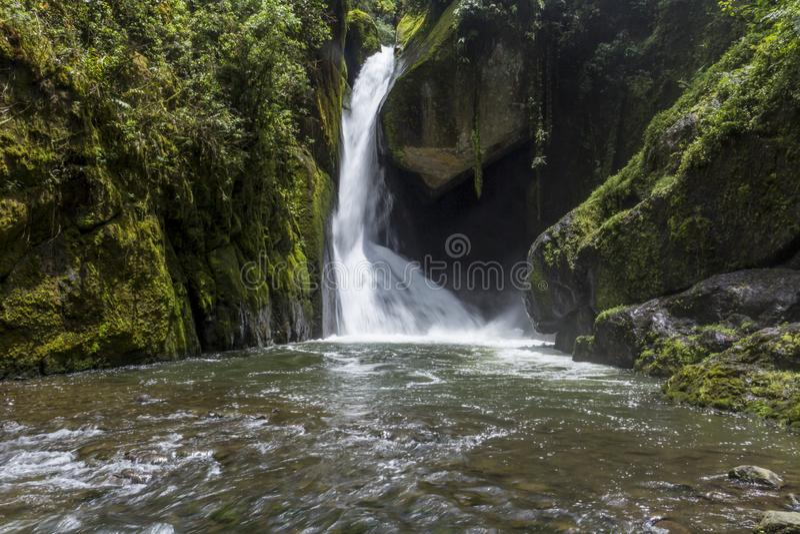Река Savegre водопада, Сан Gerardo de Dota, Коста-Рика стоковая фотография