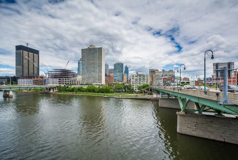 Река Schuylkill в Филадельфии, Пенсильвании стоковое изображение