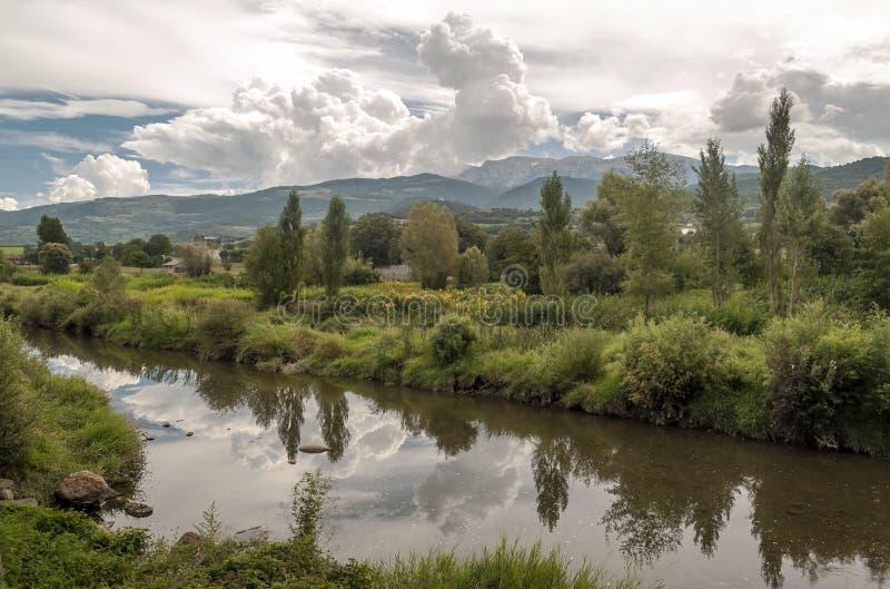 Река Segre стоковое изображение rf